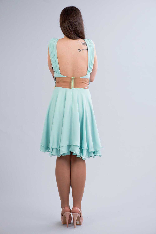 3e2270dfa8f8 Φόρεμα cocktail από σατέν καί μουσελίνα (νέα συλλογή) – Kekatou.gr