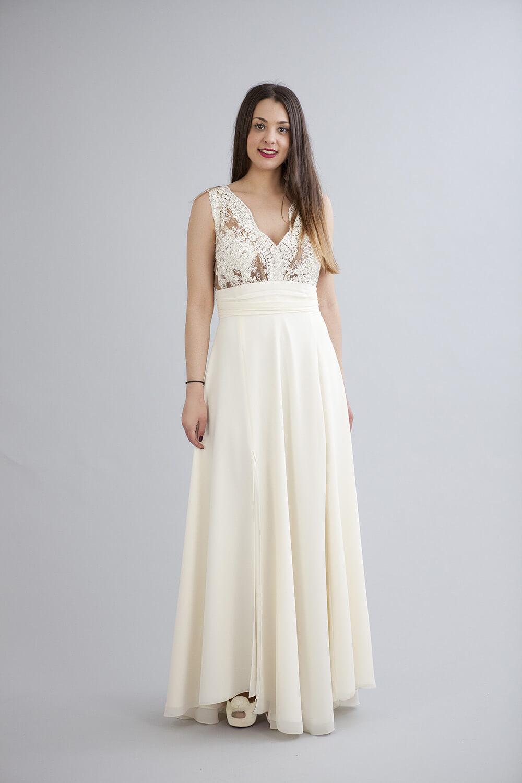 Φόρεμα βραδυνό maxi από δαντέλα καί μουσελίνα (νέα συλλογή) – Kekatou.gr f50455075c9